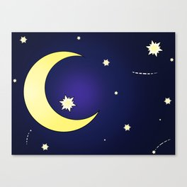 Moon & Stars Canvas Print