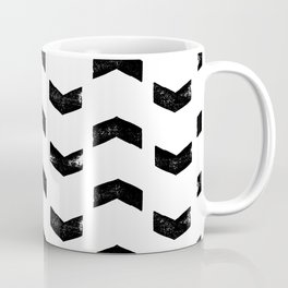 Chevron Pattern Black & White Coffee Mug