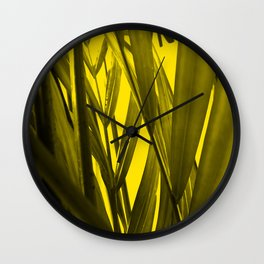 tropical palmleaves texture  in the summer Wall Clock