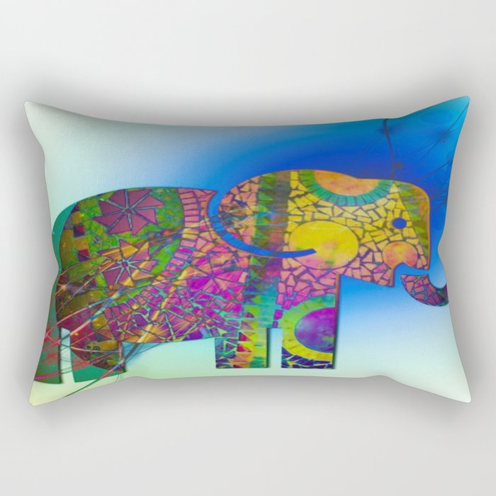 Exploding Elephant  Rectangular Pillow