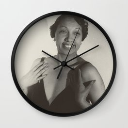 Josephine Baker - Black Culture - Black History Wall Clock