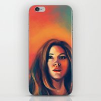amy pond iPhone & iPod Skins featuring Amy Pond by Alexia Bonfield