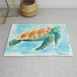 Sea Turtle Waterolour Rug