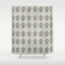Spider lettuce by Piki Shower Curtain