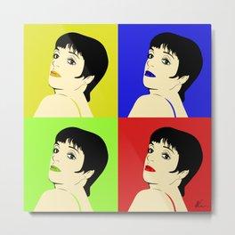 Liza Minnelli Color Pop Metal Print