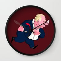 ford Wall Clocks featuring Rob Ford by Chris Piascik