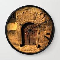 door Wall Clocks featuring door by Crazy Thoom