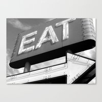 eat Canvas Prints featuring EAT by Platcat Design