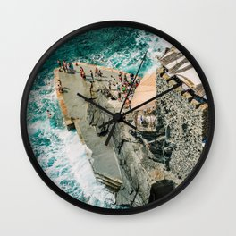 "Travel photography print ""Rocky Beach"" photo art made in Italy. Art Print Wall Clock"