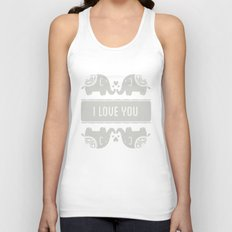 Elephant Love Unisex Tank Top