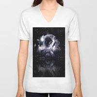astronaut V-neck T-shirts featuring ASTRONAUT. by capricorn