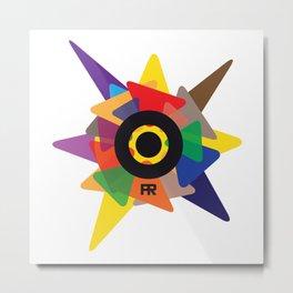 Pacifik Records Design Metal Print