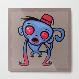 Zombie Monkey Metal Print
