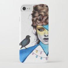 Blue Girl & Black Bird Slim Case iPhone 7