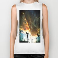 hollywood Biker Tanks featuring HollyWood Clouds!!! by Arturo Garcia