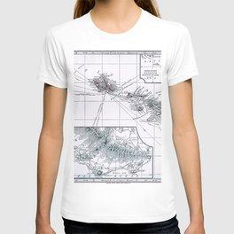 Vintage Hawaii Map 1899 T-shirt