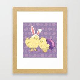 Easter Chicks Framed Art Print