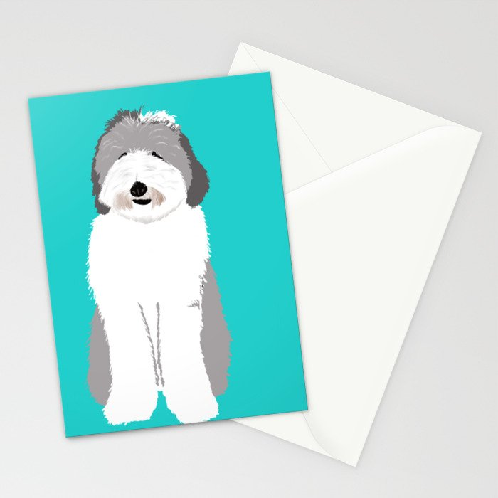 Lucy The Sheepadoodle Stationery Cards
