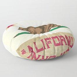 Vintage California Flag Floor Pillow