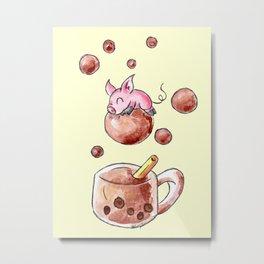 Bubble Tea Bliss Metal Print