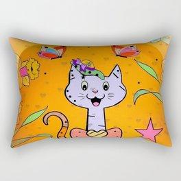 Cat Popart by Nico Bielow Rectangular Pillow
