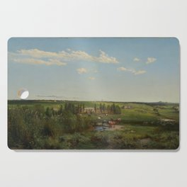 Louis Buvelot - 'Mount Fyans' homestead (1869) Cutting Board