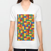 wwe V-neck T-shirts featuring Lego bricks by eARTh