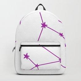 Gemini (Purple & White Sign) Backpack