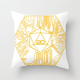 D20 Powered by Crits Throw Pillow