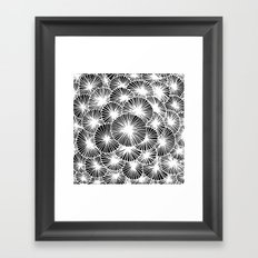 White Pinwheels Framed Art Print