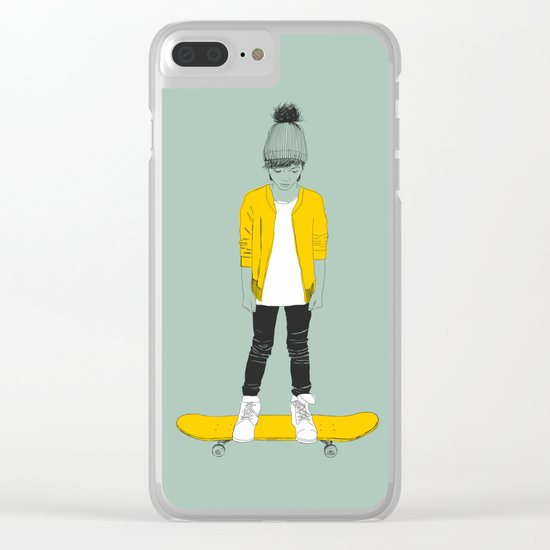 Skater Kid Clear iPhone Case