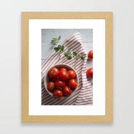 Summer Tomatoes Framed Art Print