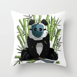 Bamboo serial killer Panda Throw Pillow