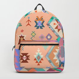 Peachy Boho Kilim Backpack