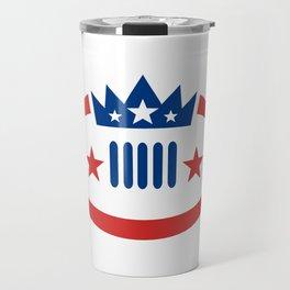 American Football Ball Crown Star Icon Travel Mug