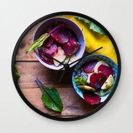 Beetroot and Potato salad Wall Clock