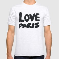 Love Paris MEDIUM Ash Grey Mens Fitted Tee