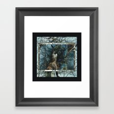 The Forest Watches Framed Art Print
