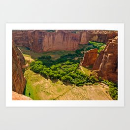 Canyon De Chelly view from the south rim Art Print