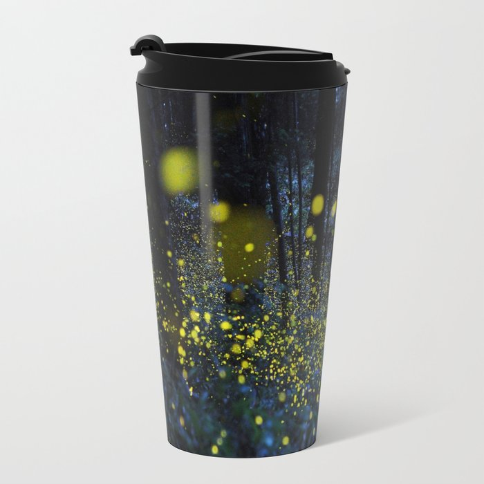 Fireflies Metal Travel Mug