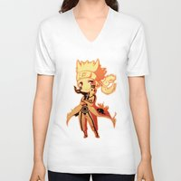 naruto V-neck T-shirts featuring Naruto  by WTFmoments