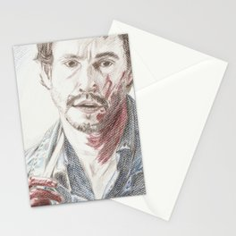 Bloody Will Graham, original colored pencil drawing Stationery Cards