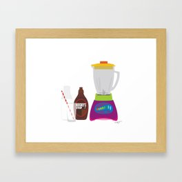 Chocolate Milk Shake Framed Art Print