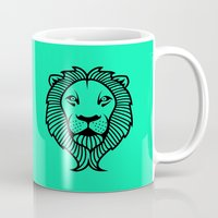 lion king Mugs featuring Lion King by ArtSchool