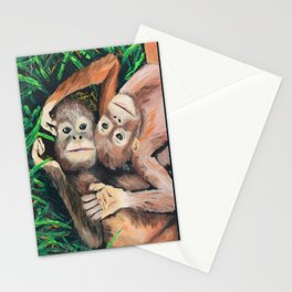 Baby Orangutans Stationery Cards