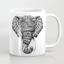 Ornate Elephant Head Coffee Mug