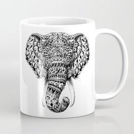 Ornate Elephant Head Coffee Mug