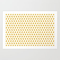 rhombus bomb in mimosa Art Print