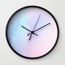 Geometric pastel vibes pattern 1 #pattern #decor #abstractart Wall Clock