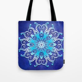 Baroque style texture on grunge background Tote Bag